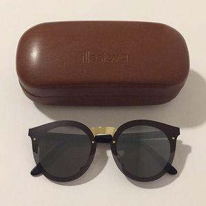 Illesteva Black/Gold Palermo Sunglasses!!